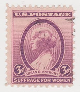 1936 Suffrage For Women TIPEX US 3 Cent Susan B Anthony Stamp