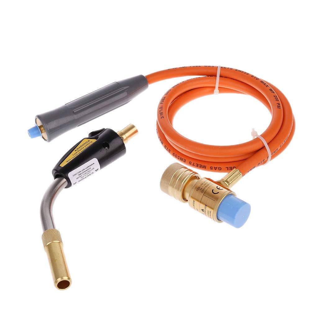 OTGO 1 Set Heating Braze Welding Torch with Hose Propane MAPP Catridge Cylinder Gas Self Ignition