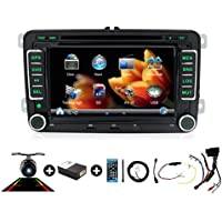 New In-Dash 7 Inch Double DIN Fit Universal VW Car Navigation stere Support GPS /DVD /RADIO/Bluetooth /steering wheel control free backup camera+ canbus+map card