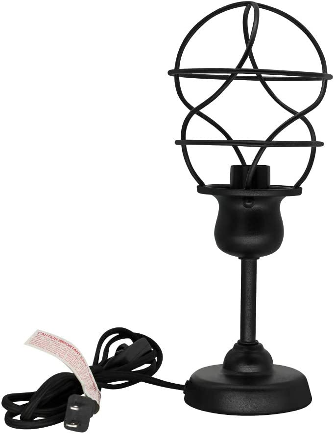 Small Metal Table Lamp for Bedside,Alucset Industrial Desk Lamp for Bedroom Living Room,Kids Room,College Dorm,Coffee Table,Night Light Home Decor