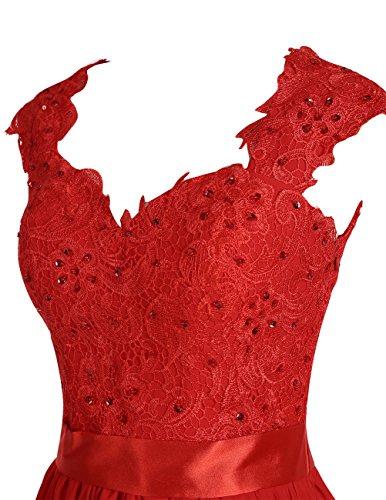 Dresstells®Vestido De Mujer Largo Elegante De Gasa Con Aplicaciones Para Fiesta Ceremonia Rubor