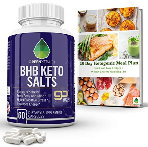 BHB Keto Salts, Carb Blocker Fat Burner Metabolism and Energy Booster, Appetite Suppressant Weight Loss Formula That Works Fast, Supports Ketosis Fights Oxidative Stress, for Men &Women, Bonus EBook (Low Carb Diet No Exercise Weight Loss)