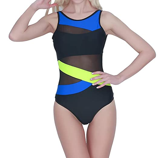 d50f89868ae00 Rambling New Women's Sexy Mesh Spell Color Push-up One Piece Swimwear  Swimsuit Bathing Beachwear