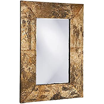 Amazon.com: Howard Elliott Kawaga Mirror, Natural Birch Bark Frame ...