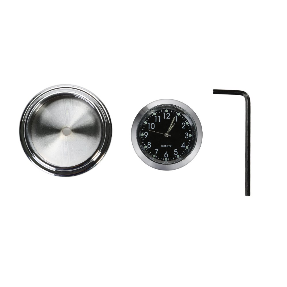 CICMOD Horloge moto Universal 7//8 1 moto Chrome Clock Motorcycle Aluminium pour Harley Honda Yamaha Suzuki