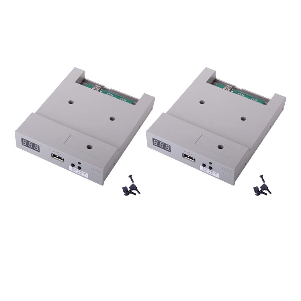 Sharplace 2 Unidades Ufa1m44-100 Emulador de Unidad de Disquete USB de Color Gris