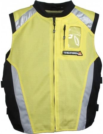 2XL-1//2 Chest:18.5, Green Riding Tribe JK22 Mens Motorcycle Racing Sleeveless Jacket Safety Reflective Vest