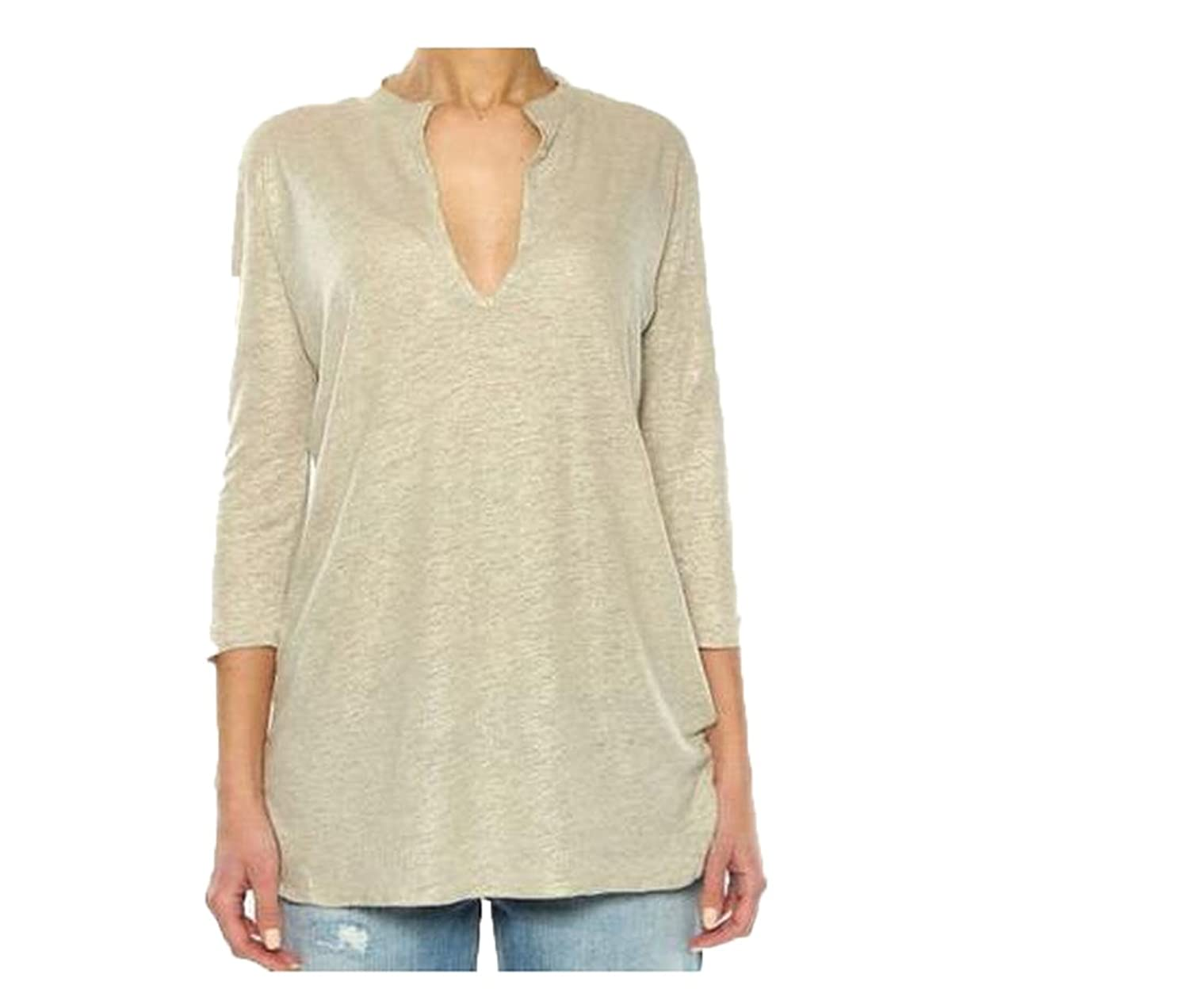 Comfy Womens Hipster Pullover V Neck 3/4 Sleeve T-Shirt Blouse
