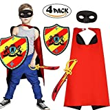 Superhero Mask Cape Foam Sword and Shield Toy Set Dress up Costume for Boys Kids