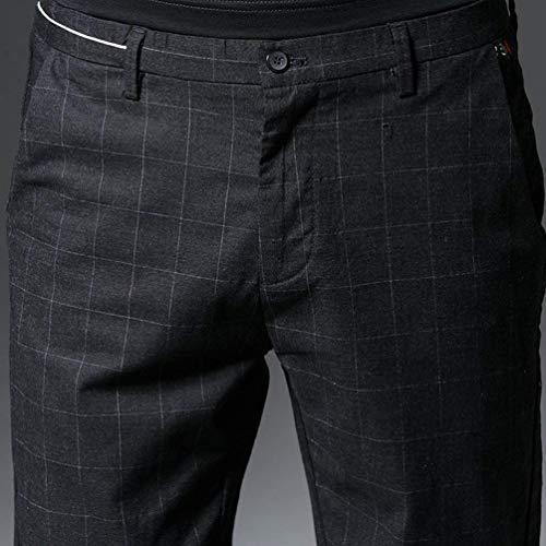 Pantalones Negocios Delgado Primavera Mezclilla De Hombres Battercake Y Cómodo Casuales Clásicos Los Ocio Pierna Otoño Recta Traje 1qgxwdO