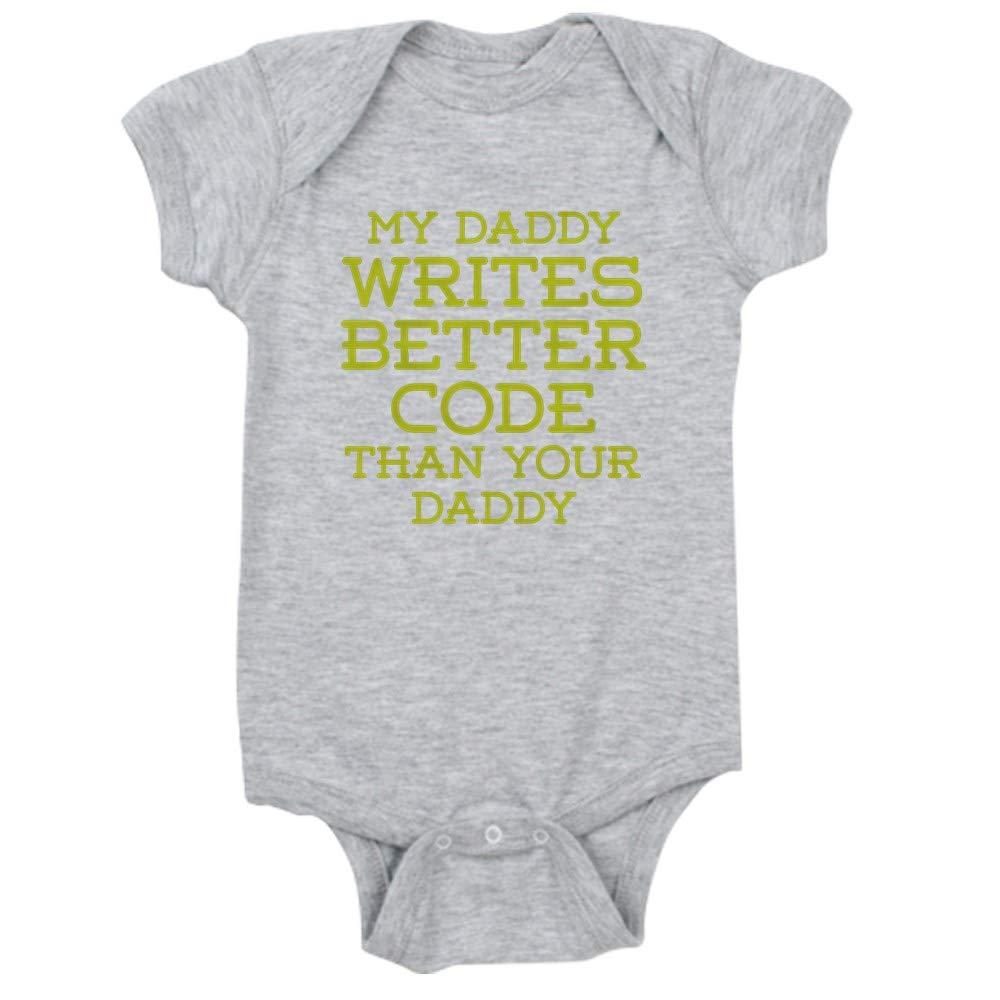 CafePress Daddy Codes Cute Infant Bodysuit Baby Romper