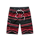 Cool HOT Mens Board Shorts Brand Summer Clothing Outdoor Short Pants Men's Beach Surf Shorts Homme Men Swimming Shorts L-3XL 1703RED 3XL