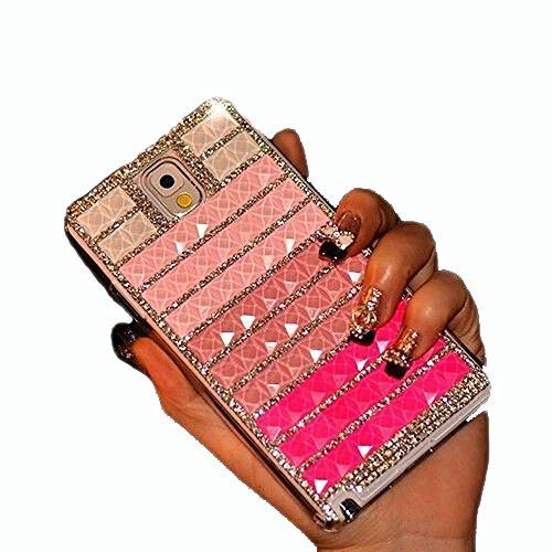 BlingDevil Cases® DIY Crystal Rhinstone Glitter Handmade Royal Elegant Rose Gradient Case Cover for Samsung Galaxy S6 Edge