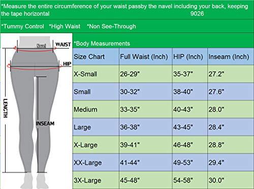 Neleus 2 Pack Tummy Control High Waist Running Workout Leggings,9017,2 Pack,Black,Red,US M,EU L