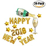Happy new year balloon,Outgeek Happy New Year Decorations 2018 Number Balloon Foil Balloon Mylar Balloon Letter Balloons for New Year Decoration