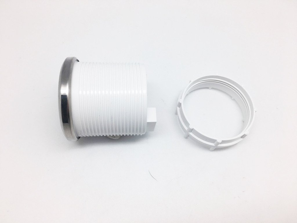 52/mm Uhr Zeit Auto Yacht Gauge Meter Wei/ß LED//Clear Lens 12/V Wasserdicht 1