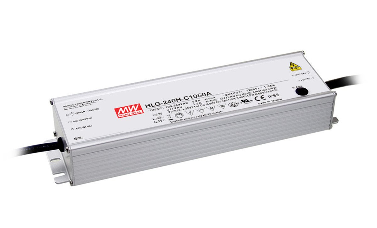 LED Power Supplies 249.9W59-119V 2100mA IP67 CC 3 in 1 Dim by MEAN WELL