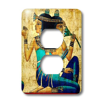 3dRose LLC lsp_119558_6 Egyptian Ladies On Papyrus Paper 2 Plug Outlet Cover