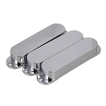 BQLZR liso (aluminio, sin ojo cerrado - Carcasa Carcasas Micro de bobina simple para guitarra eléctrica - - Juego de 3, plateado: Amazon.es: Instrumentos ...