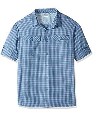 Men's Big-Tall Silver Ridge Plaid Long Sleeve Shirt, Oxygen, 3XT