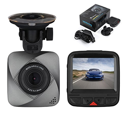 isYoung Dashboard Camera Recorder, 720P HD Car Recorder Car Dash Cam, 120 Degree Wide Angle View DVR Camera Video...