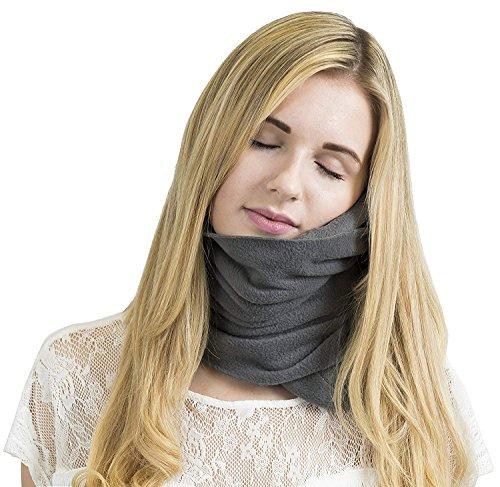 Trtl–Almohada científicamente Probado Super de Apoyo Cuello Suave Almohada de Viaje–Lavable a máquina Gris