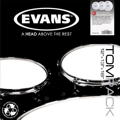 Evans Genera G2 Clear Tom Pack - Set de batería (10/12/14, incluye ...
