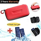 Large Mens Diabetic Travel Bag - Red Waterproof Medical Stuff Hand Personalized Insulated Diabetic Kit Cold Carrying Cool Bag Organizer for Women Men Girls Boys with 2 Ice Pack(Red)