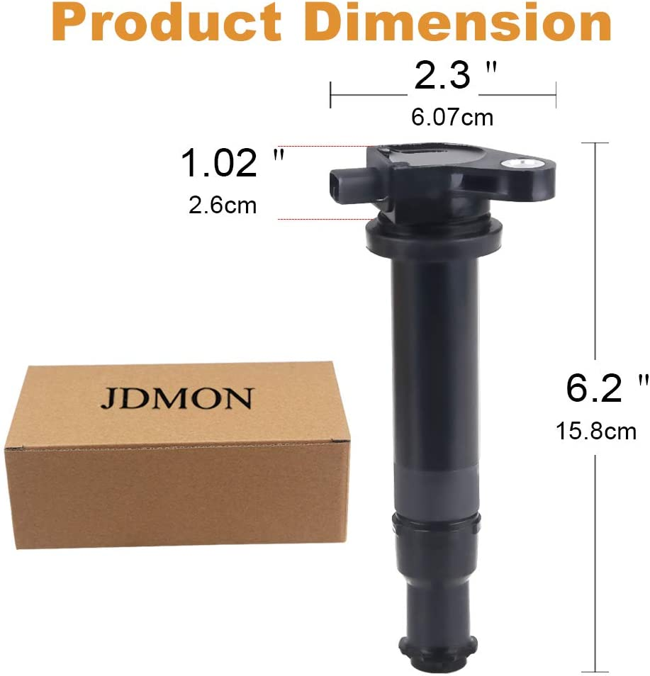 JDMON Ignition Coils Pack Set of 4 Fits for Hyundai Accent Kia Rio-Replaces 27301-26640 UF499 C1543