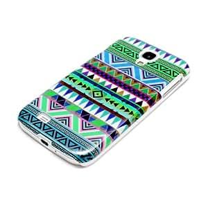 deinPhone AR-320028 - Carcasa para Samsung Galaxy S4, diseño de zigzag, multicolor
