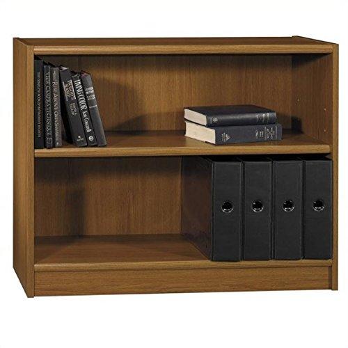 Pemberly Row 2 Shelf Wood Bookcase in Royal Oak