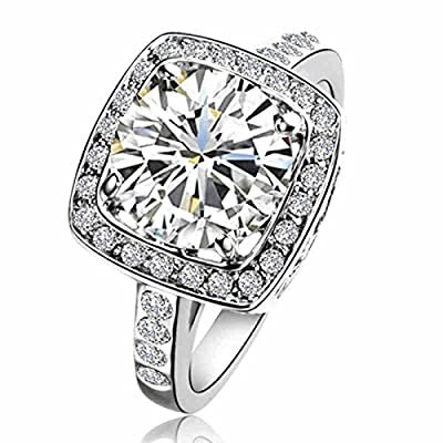 [Retro Series] Yoursfs Gorgeous 1.5ct Austrian Crystal Engagement Ring For Women 18k White Gold Plated Mother's Day gift Ring