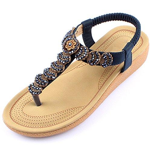 XIAOLIN クリップトウサンダル女性の夏の学生フラットヒールの靴サンダルビーチシューズ女性(2色可能)(オプションのサイズ) (色 : 02, サイズ さいず : EU39/UK6.5/CN40)