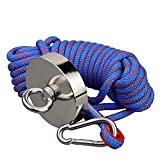 Mutuactor Super Strong 500KG Vertical Magnetic Pull Force Neodymium Fishing Magnet Set with Rope