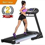 Kizean Black Folding Electric Fitness Treadmill Smart Home Running Machine