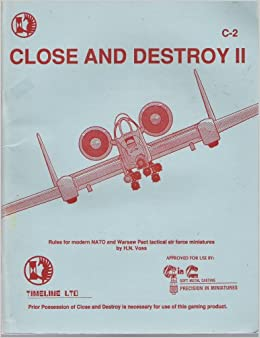 Close And Destroy II Rules For Modern NATO Warsaw Pact Tactical Air Force Miniatures H N Voss Amazon Books