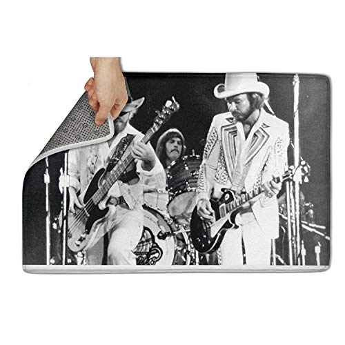 (J.SKEY Laundry RoomShoe Rugs Indoor/Outdoor ZZ-Top-Vintage-Concert-Promo-Print- Thick 15.55