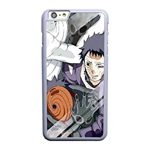 Custom made Case,Obito Uchiha Cell Phone Case for iPhone 6 6S plus 5.5 inch, White Case With Screen Protector (Tempered Glass) Free S-7310002