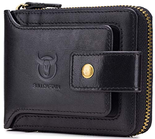 leather men wallet (Black) ()