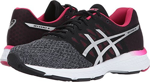 ASICS Women's Gel-Exalt 4 Running Shoe, Carbon/Silver/Cosmo Pink, 8 Medium US