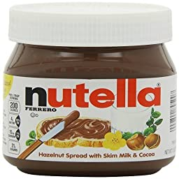 Nutella Hazelnut Spread with Skim Milk & Cocoa -4 Pack of 13 Oz
