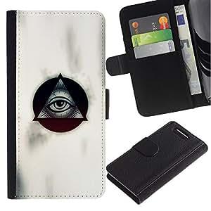 All Phone Most Case / Oferta Especial Cáscara Funda de cuero Monedero Cubierta de proteccion Caso / Wallet Case for Sony Xperia Z1 Compact D5503 // Masonry Masons Symbolism Eye Pyramid