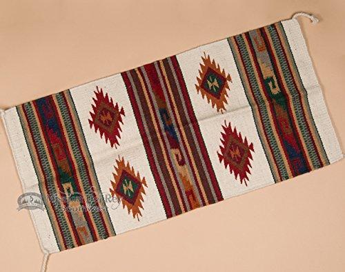 "Mission Del Rey Hand Woven Wool Western Rug 20""x40"" (40128-2)"
