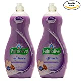 Palmolive Soft on Hands & Soft on Nails Utra Soft Touch With Almond Milk Extract and Blueberry Scent Dishwashing Liquid Soap Detergent, 25 Oz Twin Pack, (25 Oz x 2, Total 50 Oz)