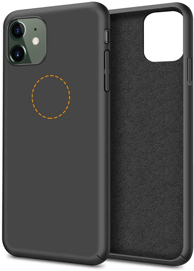 Molzar [Slim Fit Series] iPhone 11 Case, Built-in Metal Plate for Magnetic Car Phone Holder, Support Qi Wireless Charging, Compatible with Apple iPhone 11, Black