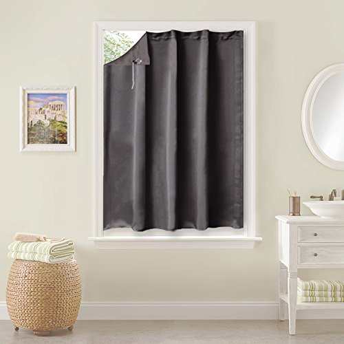 NICETOWN Portable Travel Blackout Blind - Easynight Curtain Window Covering for Bedroom (One Panel,130 cm Wide by 198 cm Long, Grey)