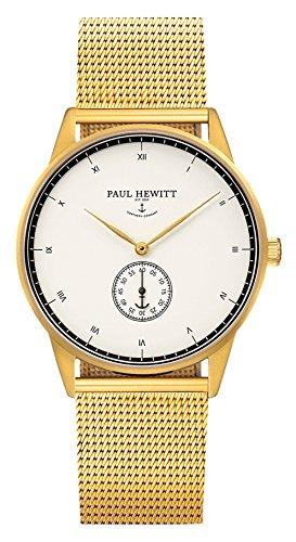 Paul Hewitt Reloj analogico para Unisex de Cuarzo con Correa en Acero Inoxidable PH-M1-G-W-4S: Amazon.es: Relojes