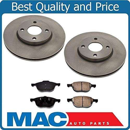(From Pro Date 04/05/04 to 07 for Ford Focus Front Rotors Ceramic Brake Pads New)