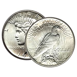 1 – Peace Silver Dollar Mid-1920's Dated Dollar Extra Fine or Better