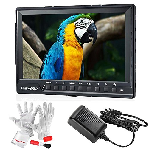 [Feelworld FW760 7 Inch IPS Full HD 1920x1200 On Camera Field Monitor 4K HDMI Output With Peaking Focus Assist Histogram Zebra Exposure - 1200:1 Contrast 450cd/m2 Brightness 160 Degree Viewing Angle] (160 Degree Viewing Angle)
